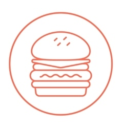 Double burger line icon vector