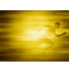 Man running for gold vector