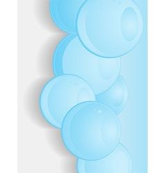 Blue glossy 3d spheres portrait background vector