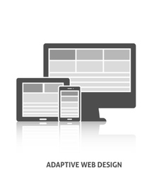 Adaptive Web Design Icon vector image vector image