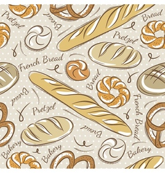 Background with different breads vector