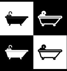 Bathtub sign black and white vector