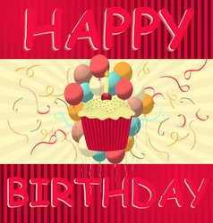 birthday card vector template vector image