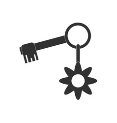 Black icon on white background key and key fob vector
