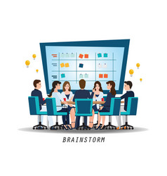 brainstorming teamwork with business people vector image vector image