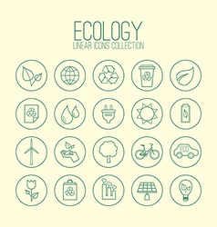 Eco Linear Icons Collection vector image vector image
