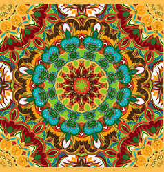 Festival art seamless mandala pattern ethnic vector