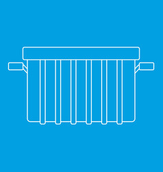 Garbage can icon outline style vector