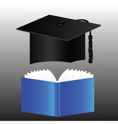graduation cap and book vector image