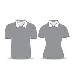 gray polo shirt outline vector image