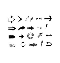 Hand drawn arrows set eps vector