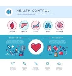 Health control technology medicine healthcare vector
