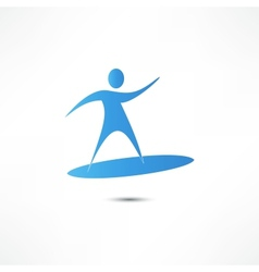 Man On Surf Icon vector image