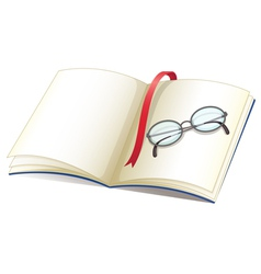 Notebook and glasses vector image vector image