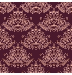 Persian seamless floral pattern vector