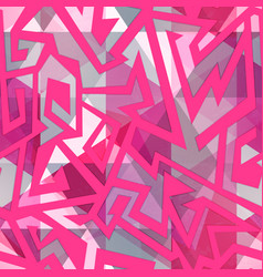 pink maze seamless pattern vector image vector image