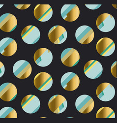 Pluzury gold polka dot motif vector