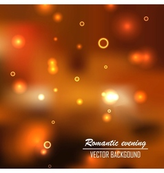 Romantic evening background vector