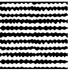 Seamless pattern hand drawn horizontal wavy lines vector