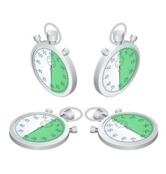 Stopwatch Set of timers Time to work Time is vector image vector image