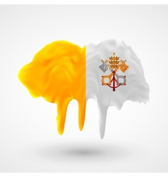 Vatican flag painted colors vector