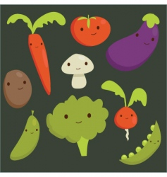 vegetable cartoons vector image