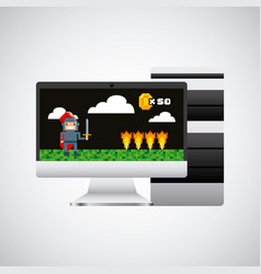 Videogame and computer design vector