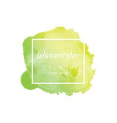 watercolor splash logo idea vector image vector image