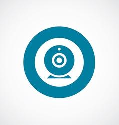 Web camera icon bold blue circle border vector