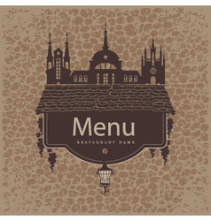 menu from the old town vector image