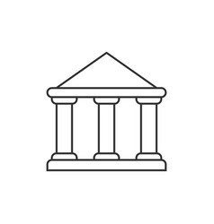 Government building outline icon vector