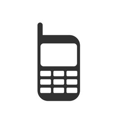 black icon on white background cellphone vector image