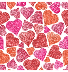 Valentine theme seamless background hearts vector image