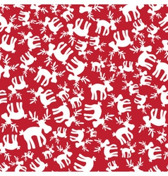 Christmas reindeer red pattern eps10 vector