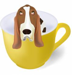coffee with a dog vector image