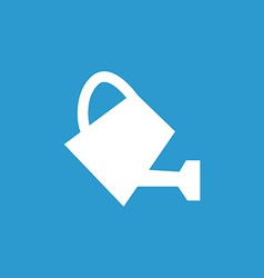 Watering can icon white on the blue background vector