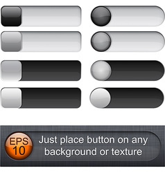 Rounded glossy sliders vector