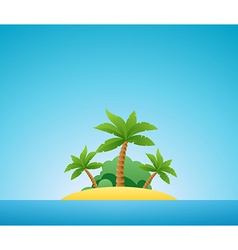 Tropical island nature landscape vector