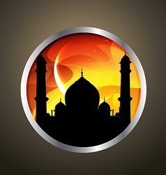 Ramadan kareem badge vector