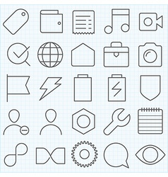 Universal GUI icons set vector image
