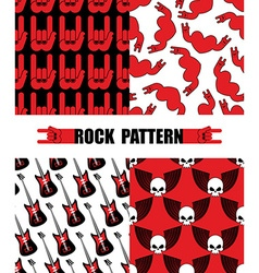 Rock pattern set seamless patterns theme of rock vector