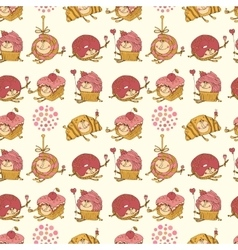 Seamless pattern made of sweets vector