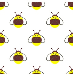 Seamless pattern with bumblebee vector