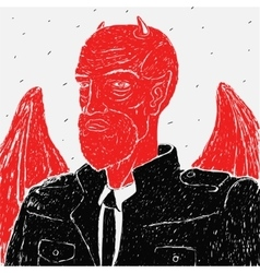 Devil in a business suit vector