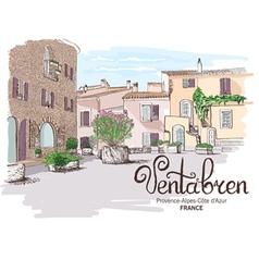 Provence landscape vector