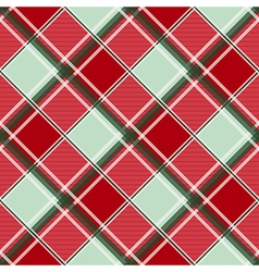 Red green diamond chessboard background vector