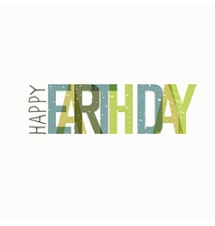 Earth day calebration typography minimalistic logo vector