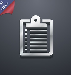 Notebook icon symbol 3d style trendy modern design vector