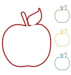 Apple watercolor effect vector