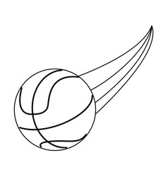 Basketball ball sport or fitness related icon vector